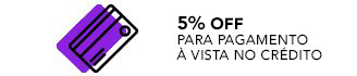 10% off a vista no cartao de crédito